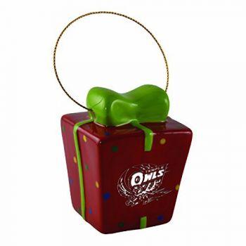 Temple University-3D Ceramic Gift Box Ornament