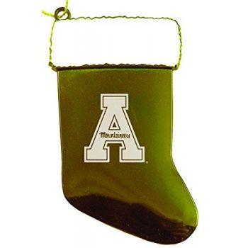 Appalachian State University - Christmas Holiday Stocking Ornament - Gold