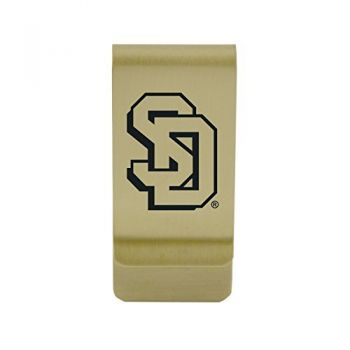 Southern University|Money Clip with Contemporary Metals Finish|Solid Brass|High Tension Clip to Securely Hold Cash, Cards and ID's|Silver