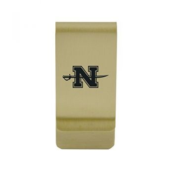 Niagara University|Money Clip with Contemporary Metals Finish|Solid Brass|High Tension Clip to Securely Hold Cash, Cards and ID's|Silver