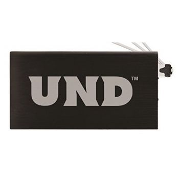 8000 mAh Portable Cell Phone Charger-University of North Dakota-Black