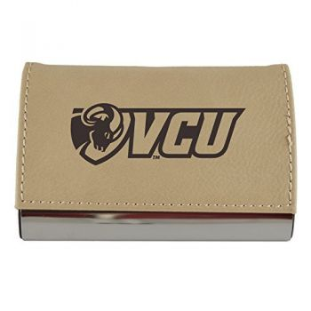Velour Business Cardholder-Virginia Commonwealth University-Tan