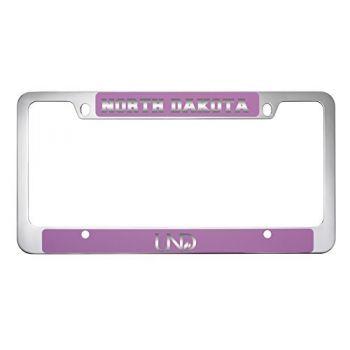 University of North Dakota-Metal License Plate Frame-Pink