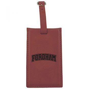 Fordham University-Leatherette Luggage Tag-Burgundy