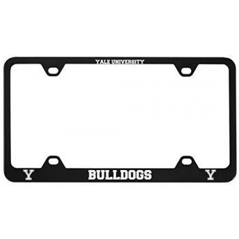 Yale University -Metal License Plate Frame-Black