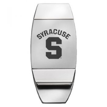 Syracuse University - Two-Toned Money Clip - Silver