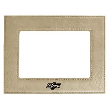 Oklahoma State University-Velour Picture Frame 4x6-Tan