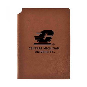 Central Michigan University Velour Journal with Pen Holder|Carbon Etched|Officially Licensed Collegiate Journal|