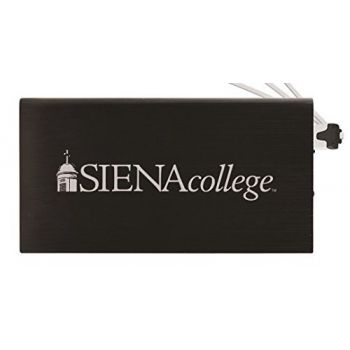 8000 mAh Portable Cell Phone Charger-Siena College-Black