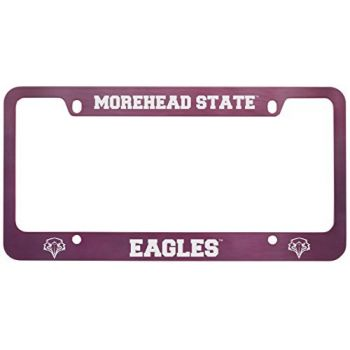 Morehead State University -Metal License Plate Frame-Pink