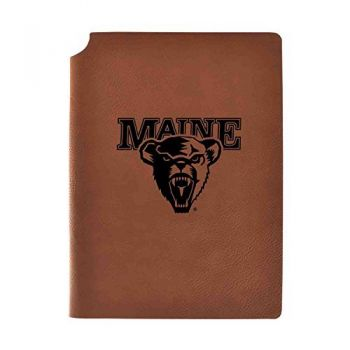 University of Maine Velour Journal with Pen Holder|Carbon Etched|Officially Licensed Collegiate Journal|