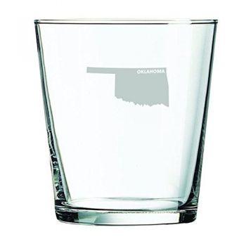 13 oz Cocktail Glass - Oklahoma State Outline - Oklahoma State Outline
