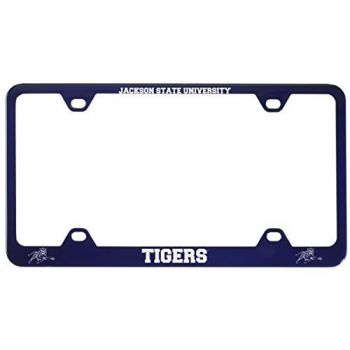 Jackson State University-Metal License Plate Frame-Blue