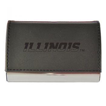 Velour Business Cardholder-University of Illinois-Black