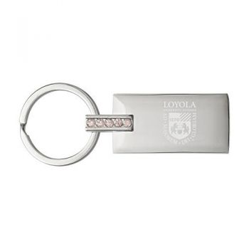 Loyola University Chicago-Jeweled Key Tag
