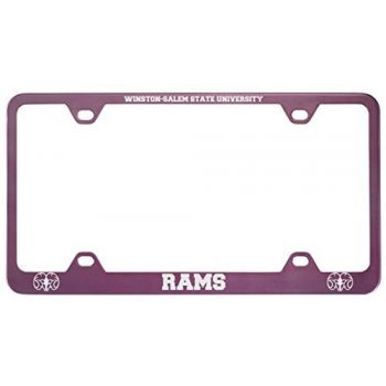 Winston-Salem State University -Metal License Plate Frame-Pink