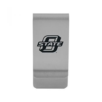 Oklahoma State University|Money Clip with Contemporary Metals Finish|Solid Brass|High Tension Clip to Securely Hold Cash, Cards and ID's|Gold