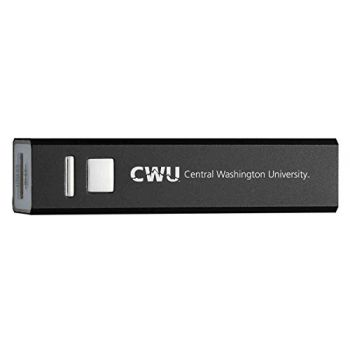 Central Washington University - Portable Cell Phone 2600 mAh Power Bank Charger - Black
