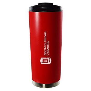 Northern Illinois University-16oz. Stainless Steel Vacuum Insulated Travel Mug Tumbler-Red