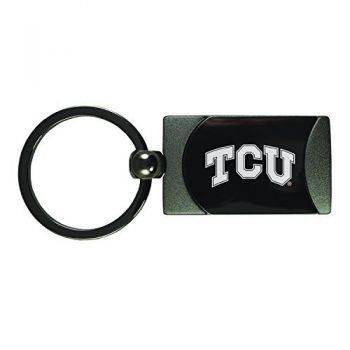 Texas Christian University -Two-Toned Gun Metal Key Tag-Gunmetal