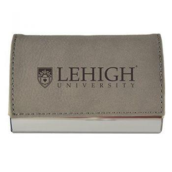 Velour Business Cardholder-Lehigh University-Grey