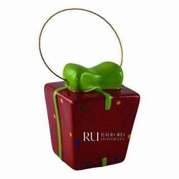 Radford University-3D Ceramic Gift Box Ornament