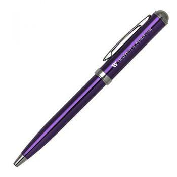 University of Washington - Click-Action Gel pen - Purple