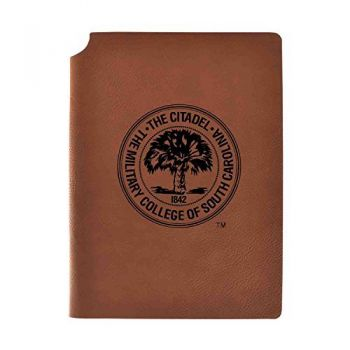 The Citadel Velour Journal with Pen Holder|Carbon Etched|Officially Licensed Collegiate Journal|