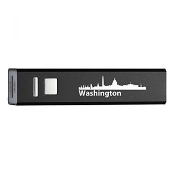Washington, D.C., Capital of the USA-Portable 2600 mAh Cell Phone Charger-BLK