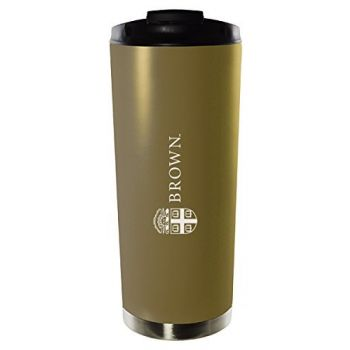 Brown University-16oz. Stainless Steel Vacuum Insulated Travel Mug Tumbler-Gold
