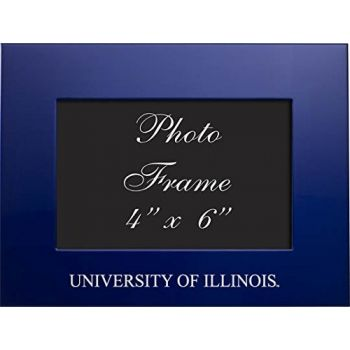 University of Illinois at Urbana–Champaign - 4x6 Brushed Metal Picture Frame - Blue