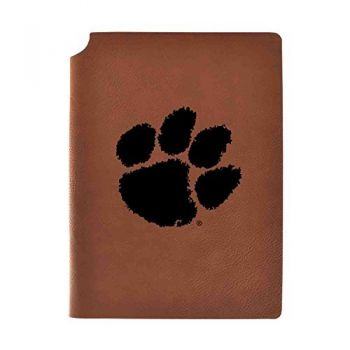 Clemson University Velour Journal with Pen Holder|Carbon Etched|Officially Licensed Collegiate Journal|