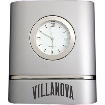 Villanova University- Two-Toned Desk Clock -Silver
