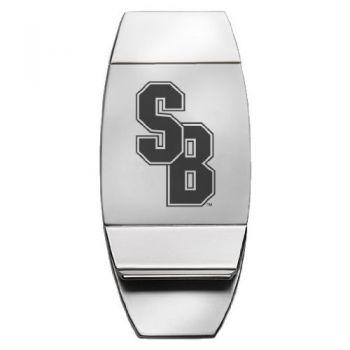 Stony Brook University - Two-Toned Money Clip - Silver