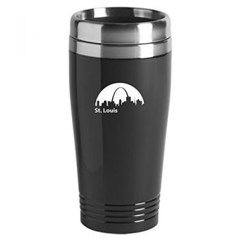 St. Louis, Missouri-Travel Mug Tumbler-Black