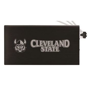 8000 mAh Portable Cell Phone Charger-Cleveland State University -Black