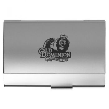 Old Dominion University - Two-Tone Business Card Holder - Silver