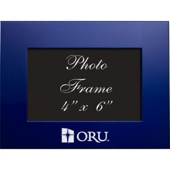 Oral Roberts University - 4x6 Brushed Metal Picture Frame - Blue