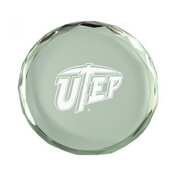 The University of Texas at El Paso-Crystal Paper Weight