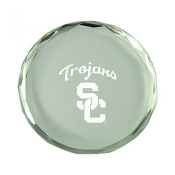 University of Southern California-Crystal Paper Weight
