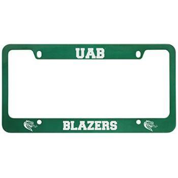 University of Alabama at Birmingham -Metal License Plate Frame-Green