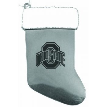Ohio State University - Chirstmas Holiday Stocking Ornament - Silver