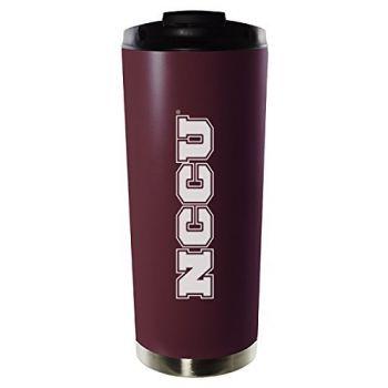 North Carolina Central University-16oz. Stainless Steel Vacuum Insulated Travel Mug Tumbler-Burgundy
