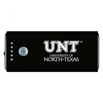 University of North Texas-Portable Cell Phone 5200 mAh Power Bank Charger -Black
