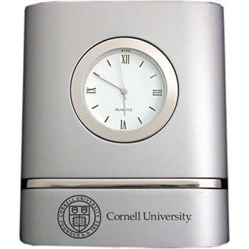 Cornell University- Two-Toned Desk Clock -Silver