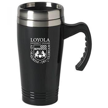 Loyola University Chicago-16 oz. Stainless Steel Mug-Black
