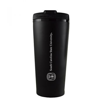 South Carolina State University -16 oz. Travel Mug Tumbler-Black