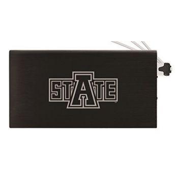 8000 mAh Portable Cell Phone Charger-Arkansas State University -Black