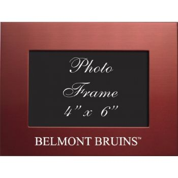 Belmont University - 4x6 Brushed Metal Picture Frame - Red