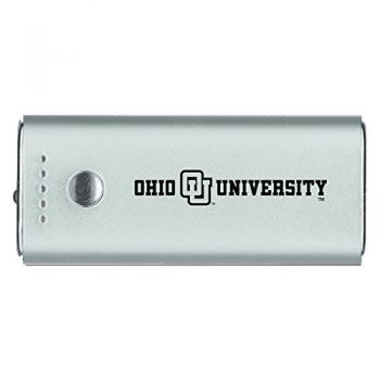 Ohio University -Portable Cell Phone 5200 mAh Power Bank Charger -Silver